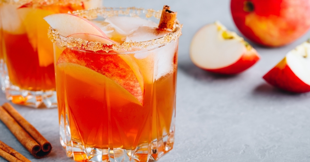 A Glass of Apple Cider Margarita