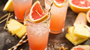 A Glass of Grapefruit and Pineapple Mocktail