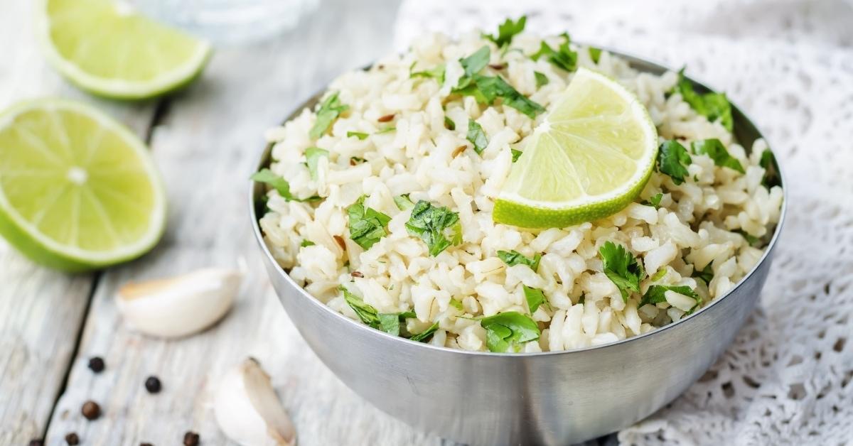 Bowl of Cilantro Lime Rice