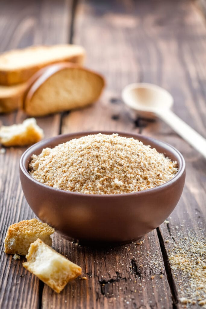 Bowl of Toasted Breadcrumbs
