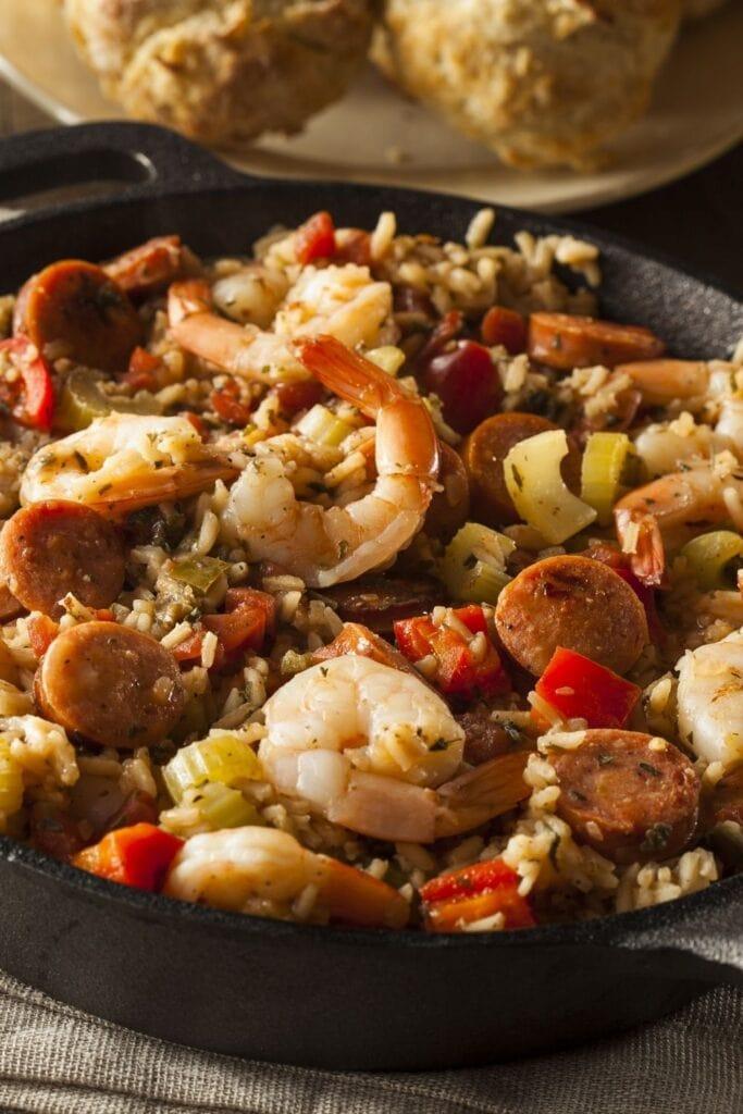 Cajun Jambalaya with Sausage and Shrimp