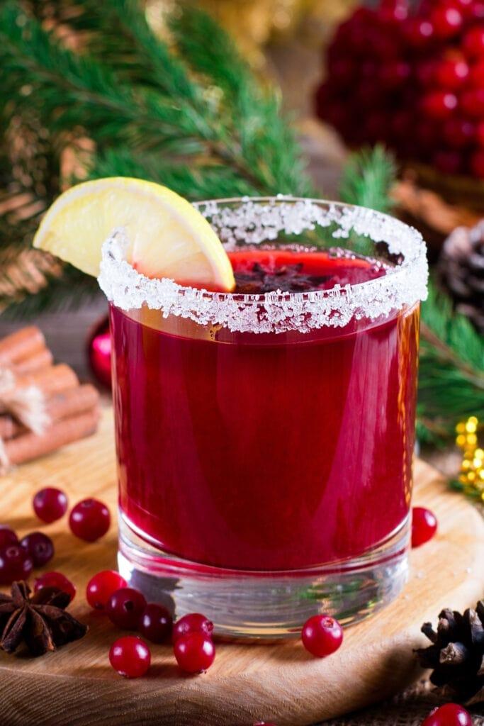 Cranberry Cocktail with Lemon