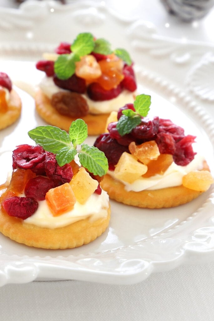 Cranberry and Cream Cheese Canape