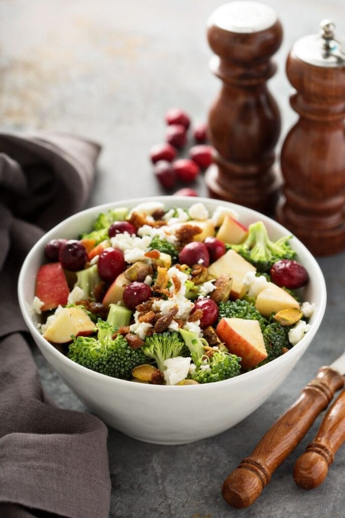 Fall Salad: Apple, Cranberry and Cheese