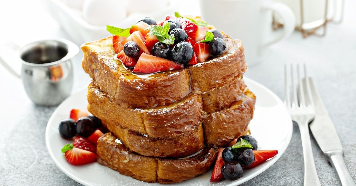 French Toast with Berries and Coffee