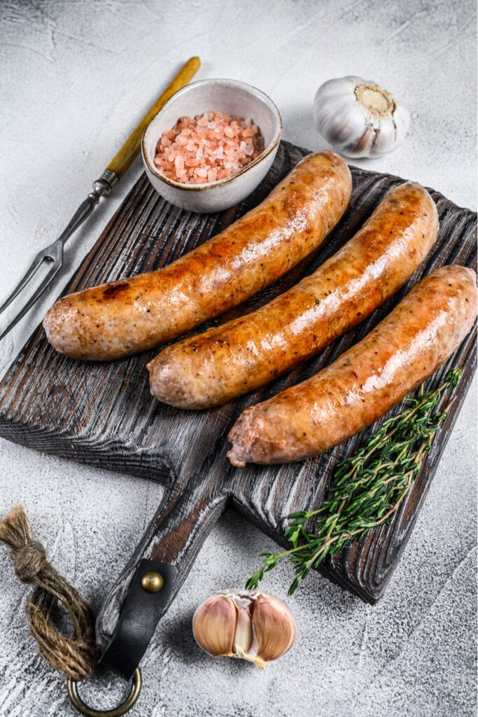 Fried Barbecue Sausages with Herbs and Spices