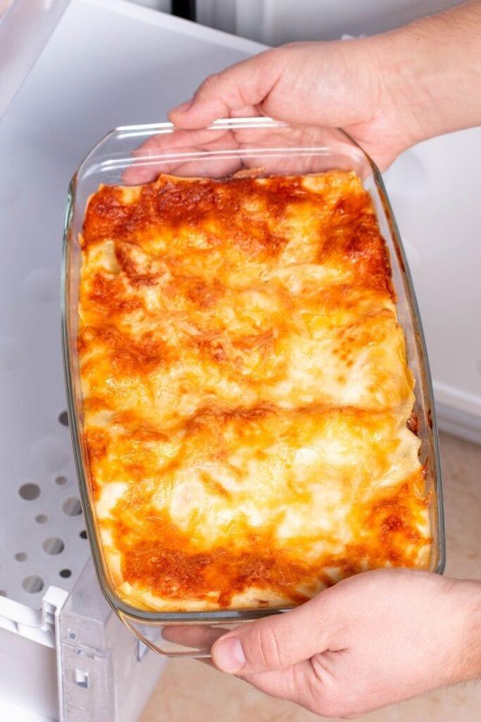 Frozen Lasagna from the Freezer