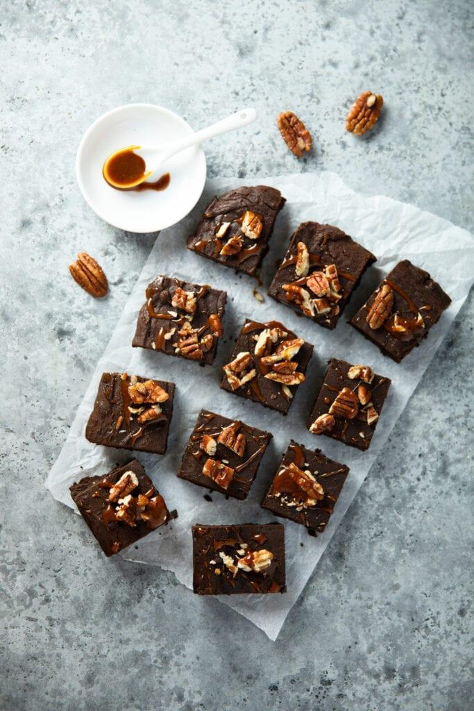 Fudge Brownies with Pecan Nuts