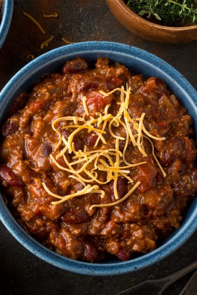 Ground Beef Chili with Cheese