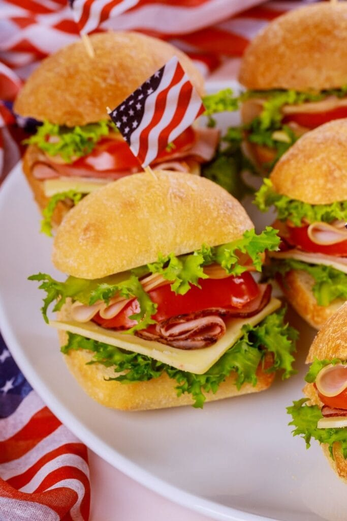 Ham and Cheese Sandwich with Tomato and Lettuce