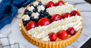 Homemade Fourth of July Fruit Tart with Berries
