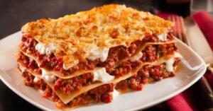 Homemade Ground Beef Lasagna