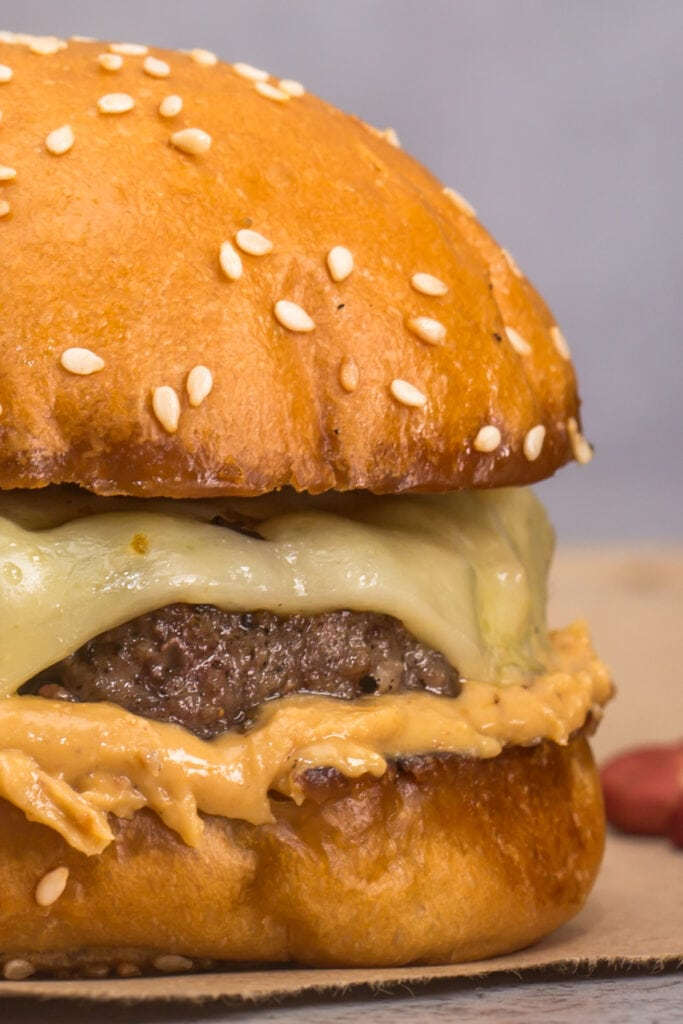 Homemade Hamburger with Peanut Butter
