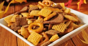 Homemade Holiday Snack Party Mix
