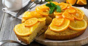 Homemade Orange Upside Down Cake with Polenta