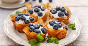 Homemade Phyllo Cups with Blueberries