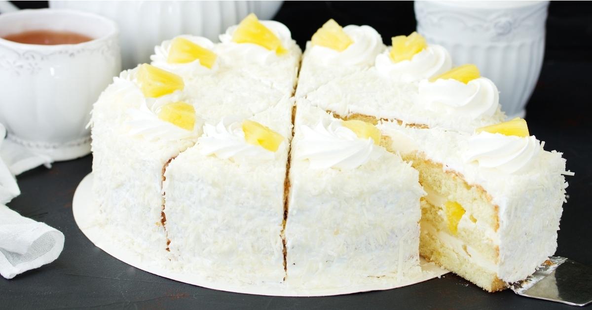Homemade Pineapple Dream Cake