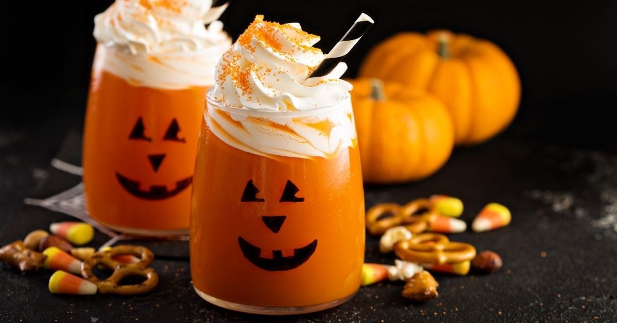Homemade Pumpkin Cocktail with Whipped Cream