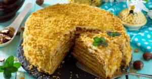 Homemade Sweet Layered Honey Cake