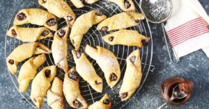 Jewish Cookie Rugelach with Chocolate Filling