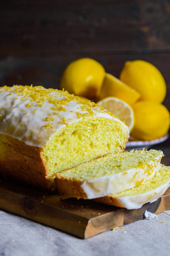 Lemon Loaf Cake with Sugar Icing