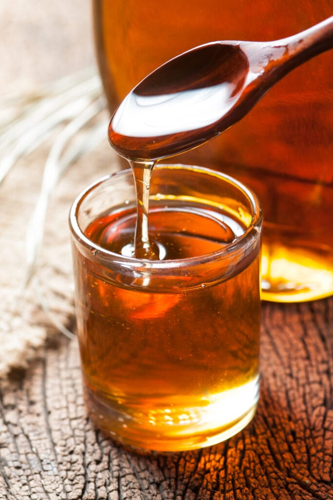 Maple Syrup in a Glass