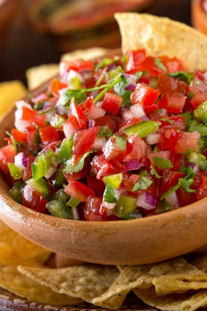 Mexican Salsa with Nachos