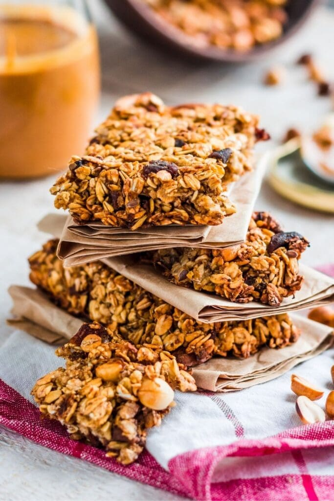 Oatmeal Peanut Butter Protein Bars