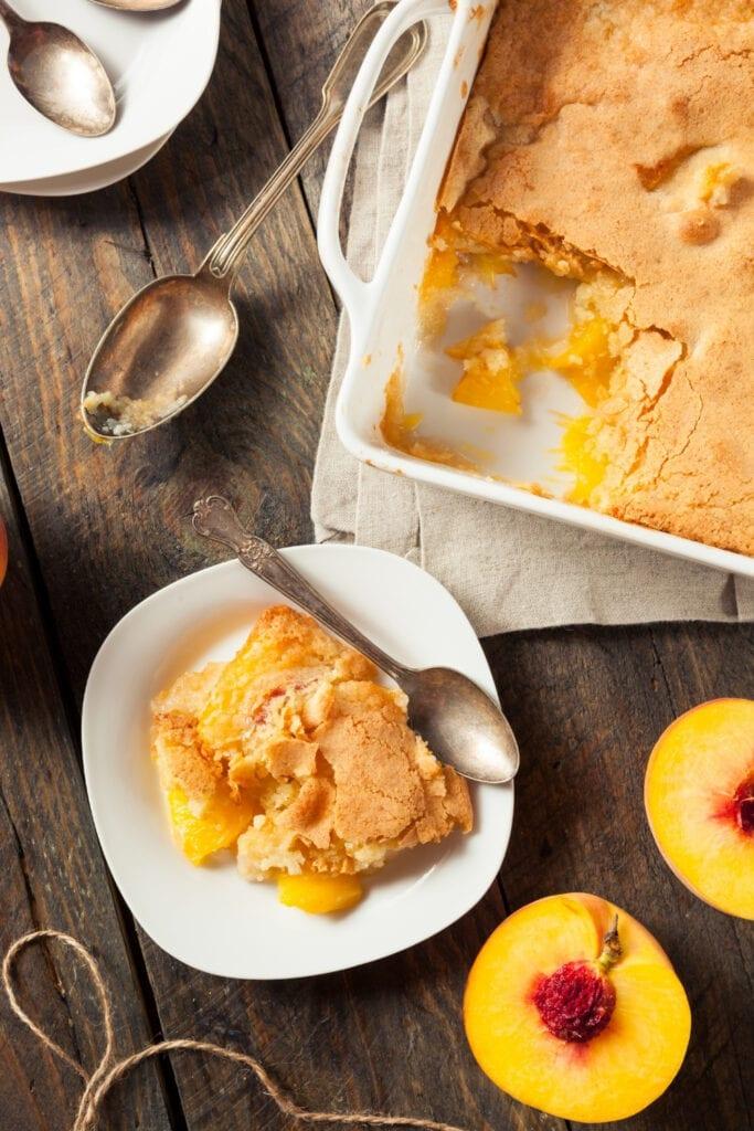 Peach Cobbler with Fresh Peach
