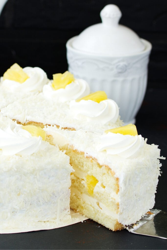 Pineapple Cake with Shredded Coconut