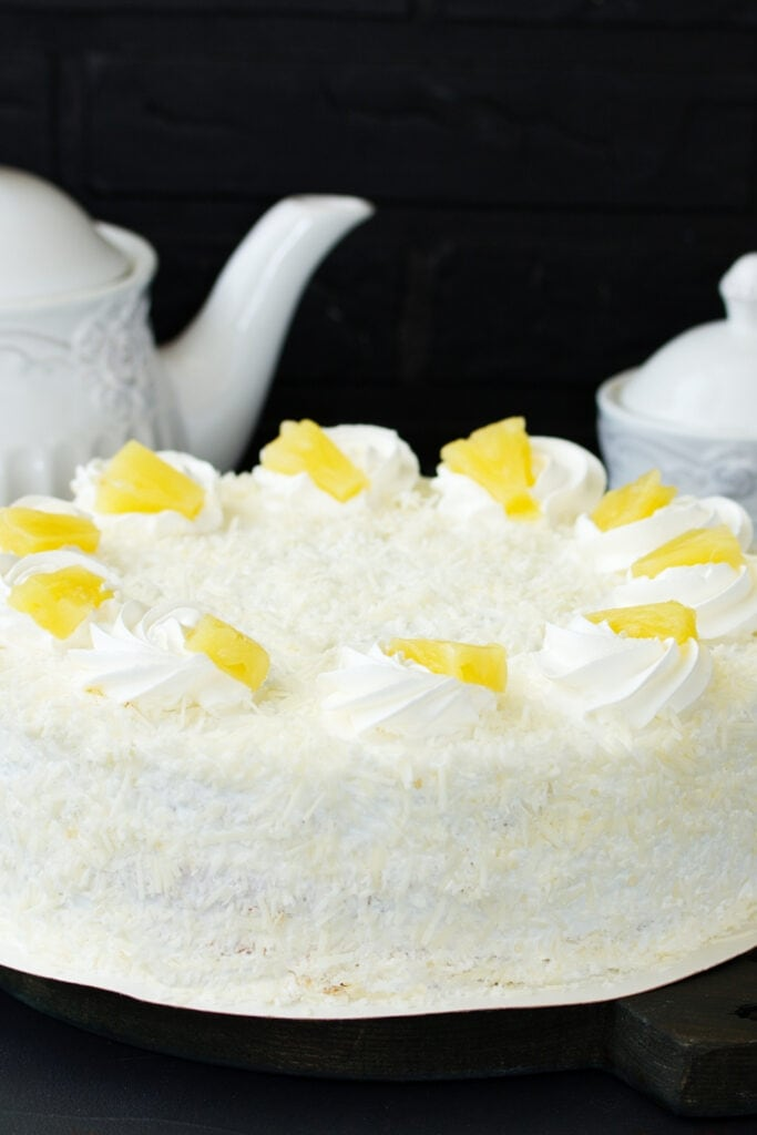 Pineapple Cake with Whipped Cream
