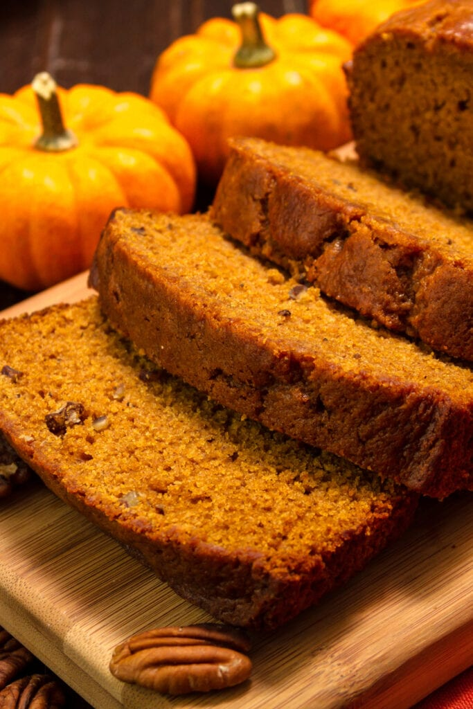 Pumpkin Bread with Pecan Nuts