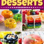 Rainbow Desserts