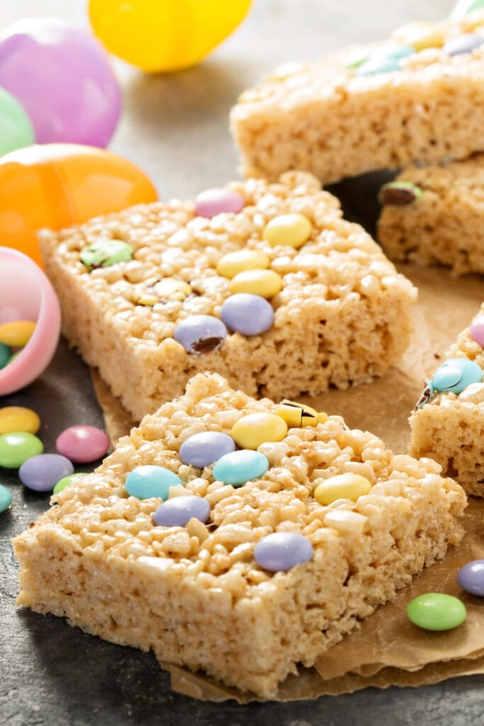Rice Krispies with Chocolate Candies
