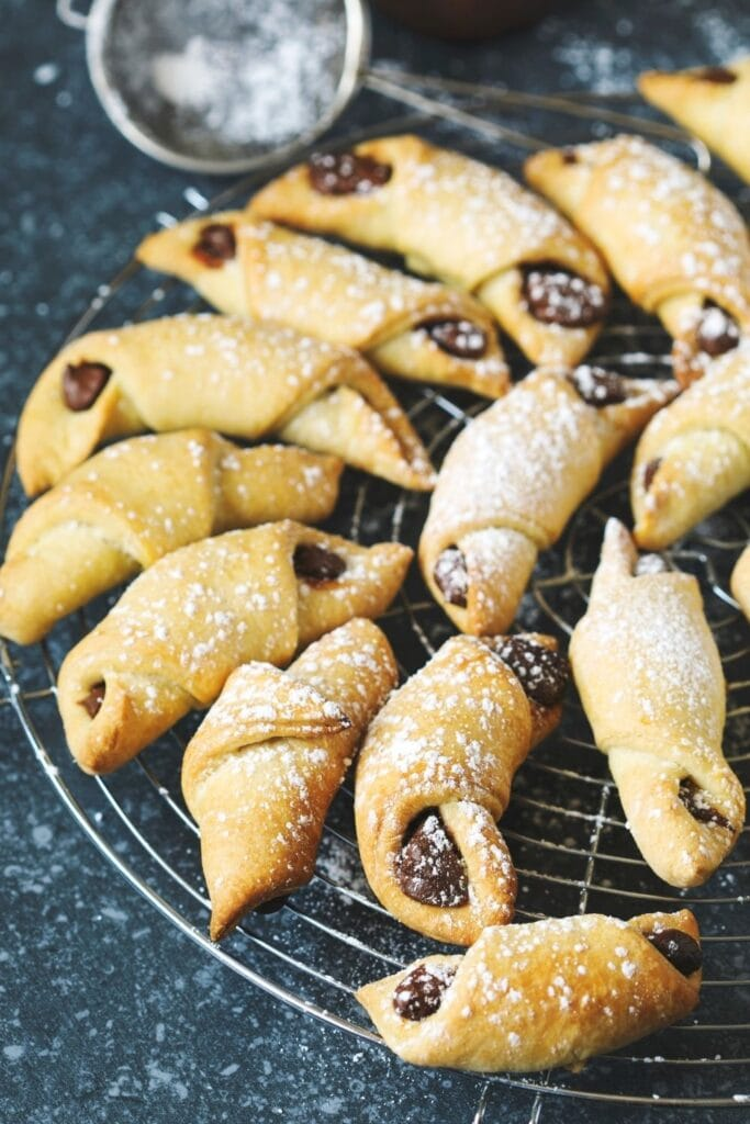 Rugelach Cookies with Chocolate Filling