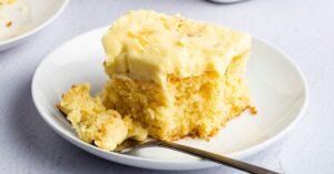 Slice of Homemade Pineapple Dream Cake