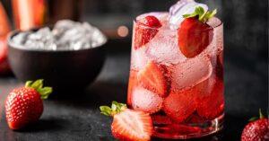 Strawberry Mojito with Fresh Strawberries