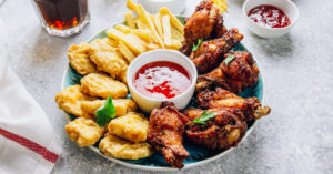 Super Bowl Snacks: Chicken, Nuggets, Fries and Dipping Sauce