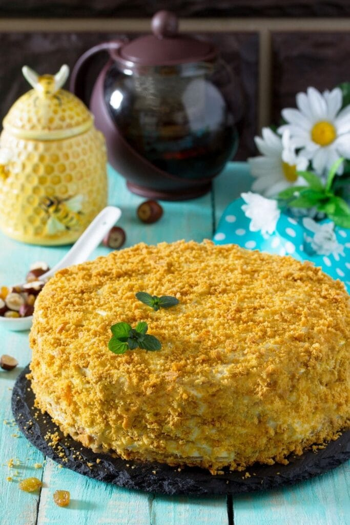 Sweet Honey Layered Cake