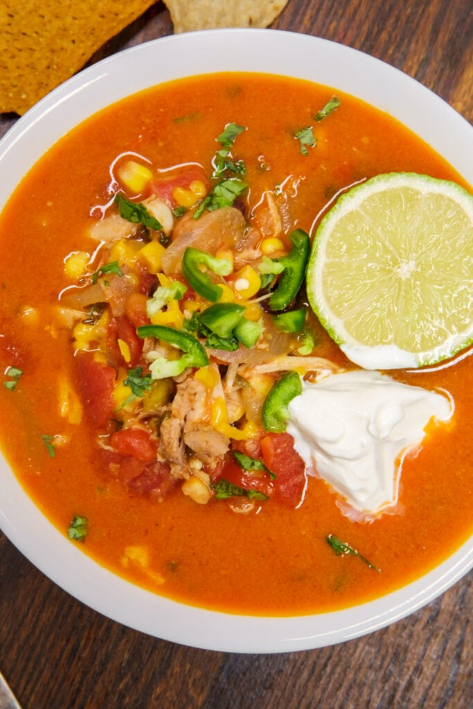 Taco Soup with Hot Peppers