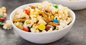 Trail Mix Snacks: Nuts, Pretzels, Pop Corn and Chocolate Candies