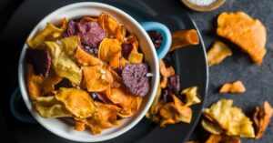 Vegetable Chips in a Bowl