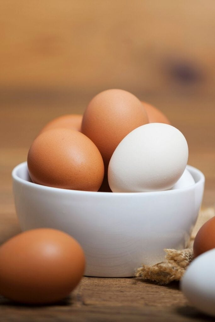 Yellow and White Eggs in a Bowl