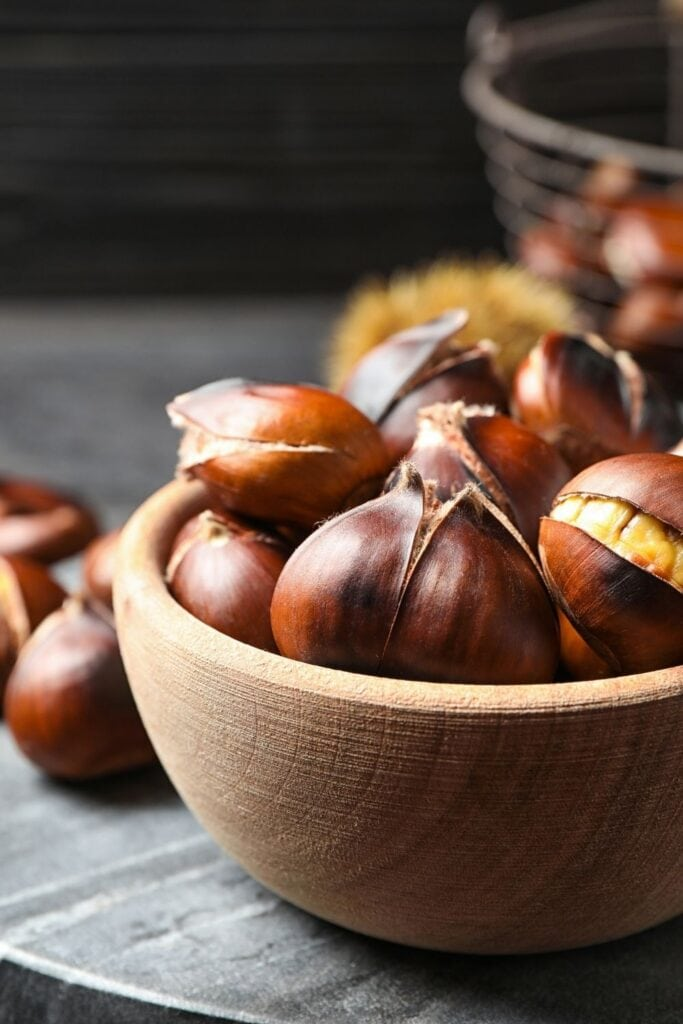 Bowl of Roasted Chestnuts
