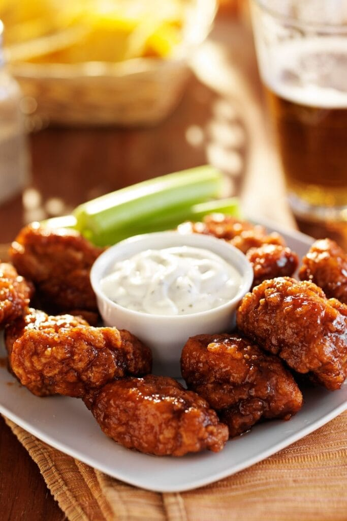 BBQ Chicken Wings with Ranch Sauce