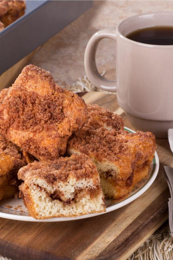 Cinnamon Swirl Coffee Cake with Coffee