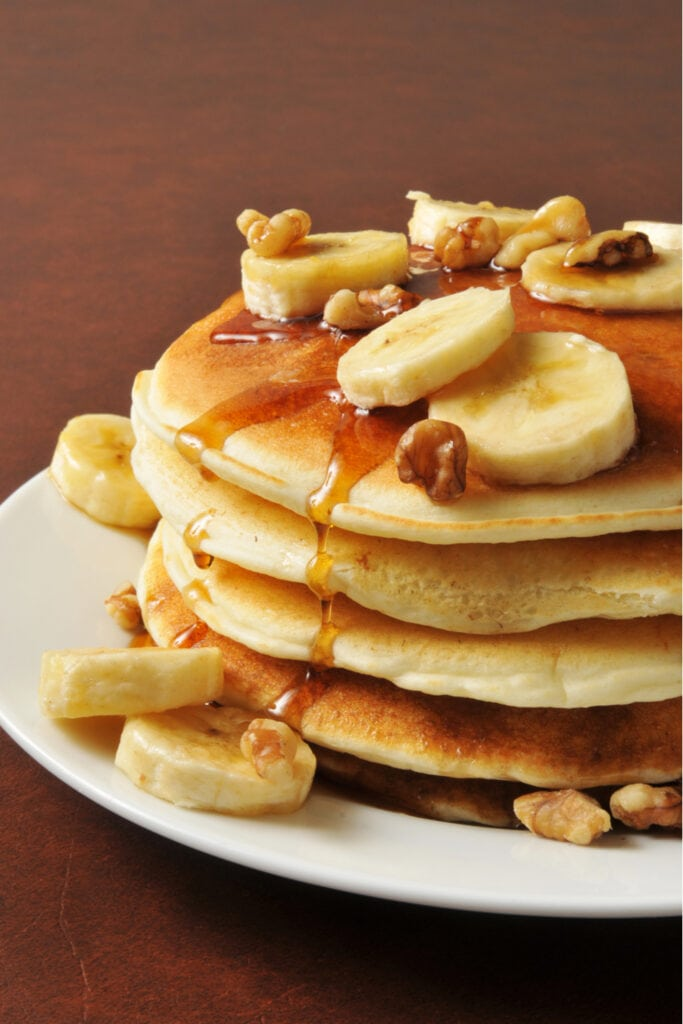 Coconut Flour Pancakes with Bananas and Nuts