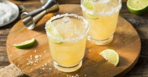 Cold Tequila Margarita in a Glass