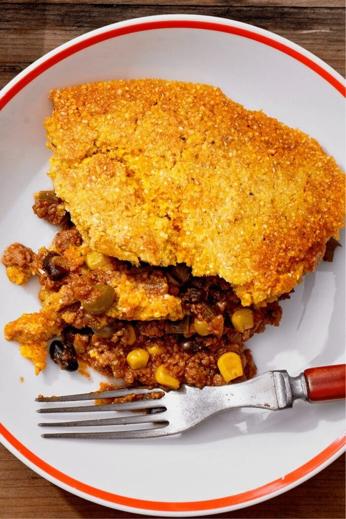 Cheesy Cornbread with Corn and Ground Beef