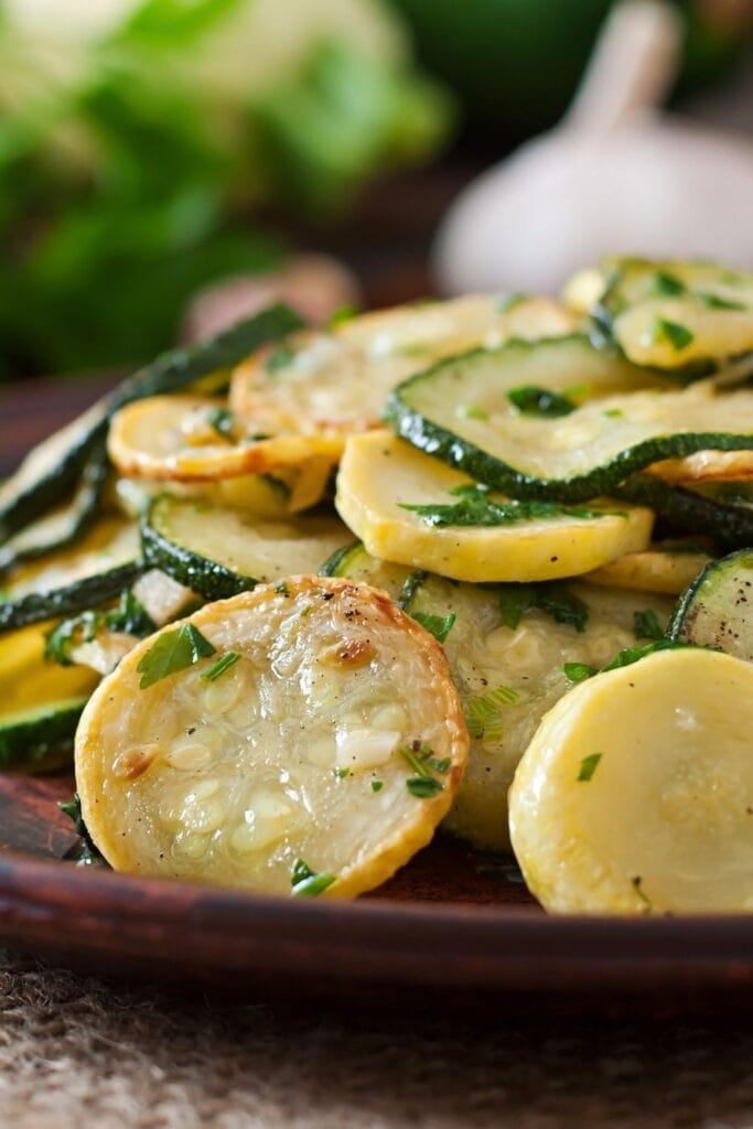 Courgette Salad with Herbs and Garlic